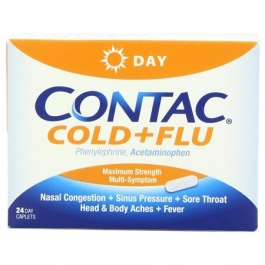 Contac Day Maximum Strength Cold, Flu Relief Caplets - 24ct