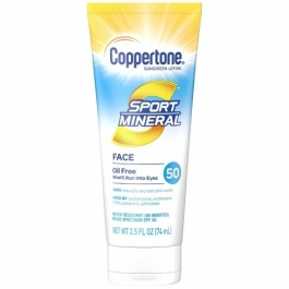 Coppertone Sport Mineral Sunscreen Face Lotion SPF 50- 2.5oz