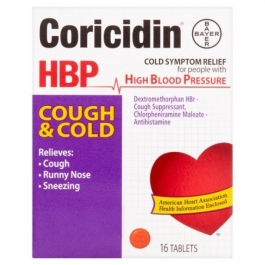 Coricidin HBP Cough & Cold Tablet 16ct