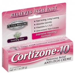 Cortizone-10 Soothing Aloe Feminine Itch Creme- 1oz
