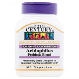 21st Century Acidophilus, High-Potency, 100 capsules