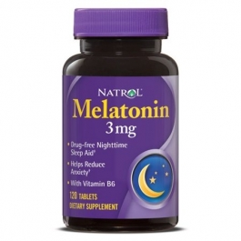 Natrol Melatonin 3mg Tablets With Vitamin B6, 120ct