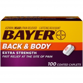 Bayer Back & Body Pain Extra Strength Caplet - 100ct