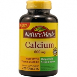 Nature Made Calcium with Vitamin D3 600 mg 220 Tablets