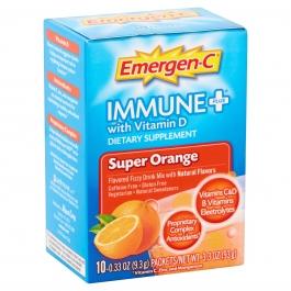 Emergen-C Immune Plus with Vitamin D Powder Packets, Super Orange, 0.33 oz, 10ct