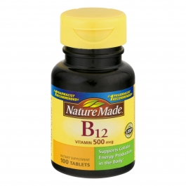 Nature Made Vitamin B-12 500mcg Tablets 100ct