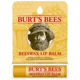Burt's Bees Beeswax Lip Balm, Vitamin E & Peppermint, 0.15 Oz