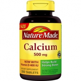 Nature Made Calcium with Vitamin D 500 mg - 300 Tablets