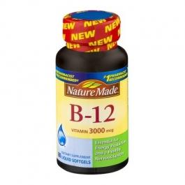 Nature Made B-12 Vitamin 3000mg Liquid Softgels 60ct