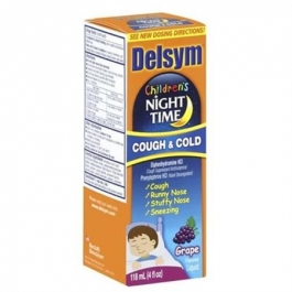 Delsym Childrens Night Time Cough & Cold - Grape 4 oz.