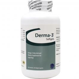 Derma-3 Softgels for Large Dogs- 250ct