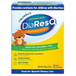 DiaResQ Child Diarrhea Soothing Relief Powder Packets Vanilla 3ct