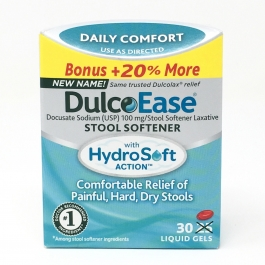 DulcoEase Stool Softener Liquigel- 25ct