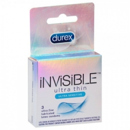Durex Invisible Ultra Thin & Ultra Sensitive Premium Condom - 3ct