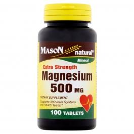 Mason Magnesium 500 mg Extra Strength - 100 Tablets