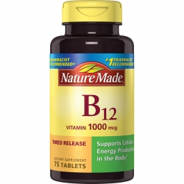 Nature Made Vitamin B-12 Tablets Dietary Supplement, 1000 mcg, 75 count