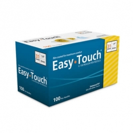 "EasyTouch Pen Needle 31 Gauge, 1/4"" - 100ct"