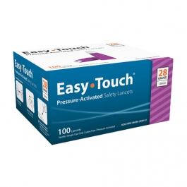 EasyTouch® Pressure Activated Safety Lancets, 28 Gauge, 1.8 mm - 100ct