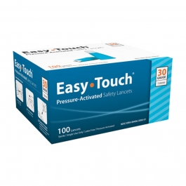 EasyTouch® Pressure Activated Safety Lancets, 30 Gauge, 1.6 mm - 100ct
