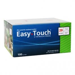 "EasyTouch Insulin Syringe 29 Gauge, 1cc, 1/2"" - 100ct"