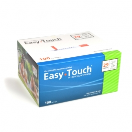 "EasyTouch Insulin Syringe 29 Gauge, .5cc, 1/2"" - 100ct"
