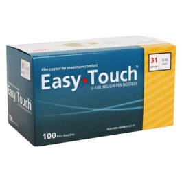 "EasyTouch Pen Needle 31 Gauge, 3/16"" - 100ct"