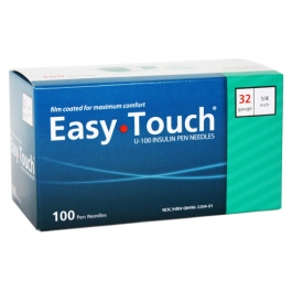"EasyTouch Pen Needle 32 Gauge, 1/4"" - 100ct"