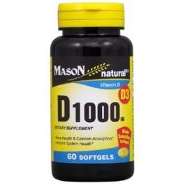 Mason Natural Vitamin D 1000 Iu Softgels 60ct