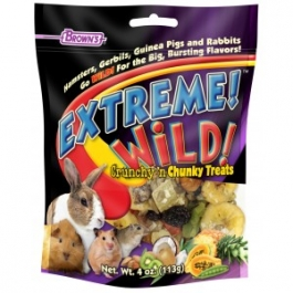 Brown's Extreme Wild Crunchy & Chunky Treats for Small Animals-4oz ** Extended Lead Time **