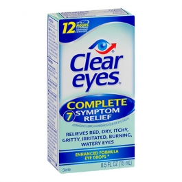 Clear eyes Complete 7 Symptom Relief Astringent/Lubricant/Redness Reliever  Eye Drops - 0 5 fl oz