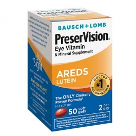 PreserVision Eye Vitamin and Mineral Supplement with AREDS Lutein, Softgels - 50ct