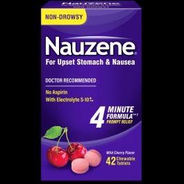 Nauzene Nausea Relief Chewable Tablets, Wild Cherry, 42 Ct