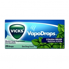 Vicks VapoDrops Cough Relief Drops, Menthol, 20 Ct
