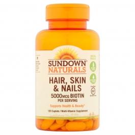 Sundown Naturals Hair, Skin & Nails, 120 Caplets
