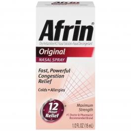 Afrin Original Maximum Strength Nasal Spray, 0.5 fl oz