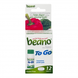 Beano Tablets To Go, 12 Count