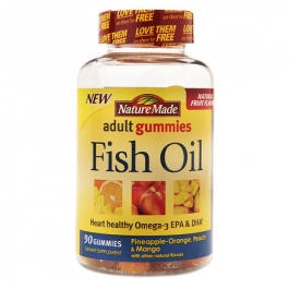 Nature made fish oil adult gummies 90ct for Nature made fish oil gummies