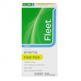 Fleet Saline Enema Laxative- 4.5oz (4ct)