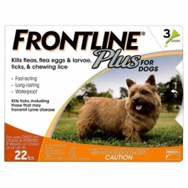 Frontline Plus for Dogs (5 to 22 lbs) - 3 Month Pack(Orange)***Processing Time  7 - 10 Days***