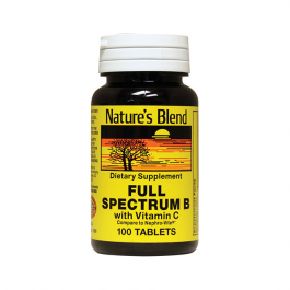 Nature's Blend Full Spectrum B with Vitamin C Tablets - 100ct