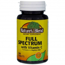 Nature's Blend Full Spectrum with Vitamin C Tablets - 100ct