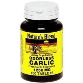 Odorless garlic tablets