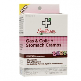 Similasan Gas & Colic + Stomach Cramps Quick Dissolving Tablets- 135ct