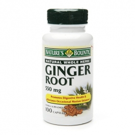Nature's Bounty Ginger Root 550 mg Dietary Supplement Capsules- 100ct