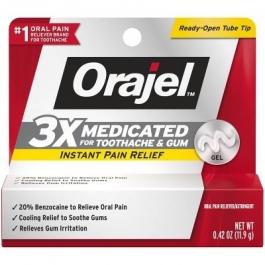 Orajel Instant Toothache Pain Relief 3X Medicated Gel - 0.42 oz