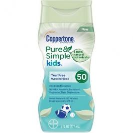 Coppertone Pure & Simple Kids Sunscreen Lotion Spf 50 6 fl oz