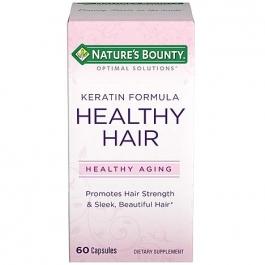 Nature's Bounty Optimal Solutions Healthy Hair Vitamins, Keratin Formula - 60ct