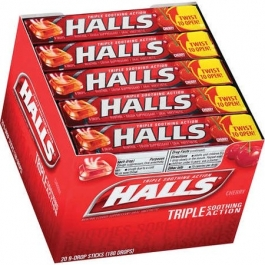 Halls Mentho-Lyptus Drops Cherry - 20 packs of 9