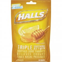 Halls Mentho-Lyptus Advanced Vapor Action Honey-Lemon 30 Drops