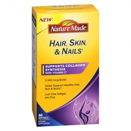 Nature Made Hair-Skin-Nails with 2500 mcg of Biotin, Softgels- 60ct